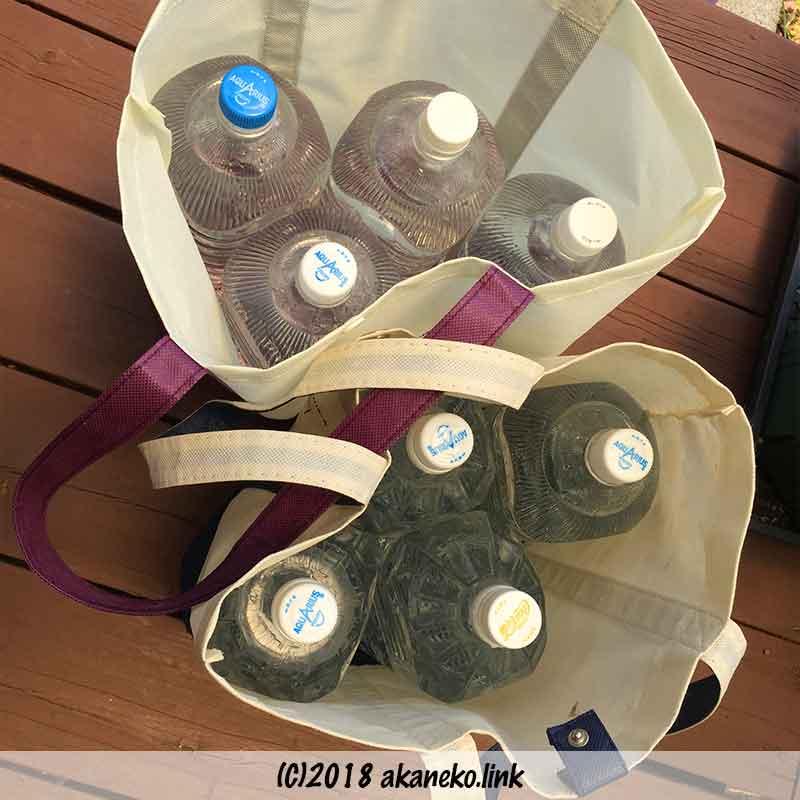 2リットルペットボトル8本の液肥