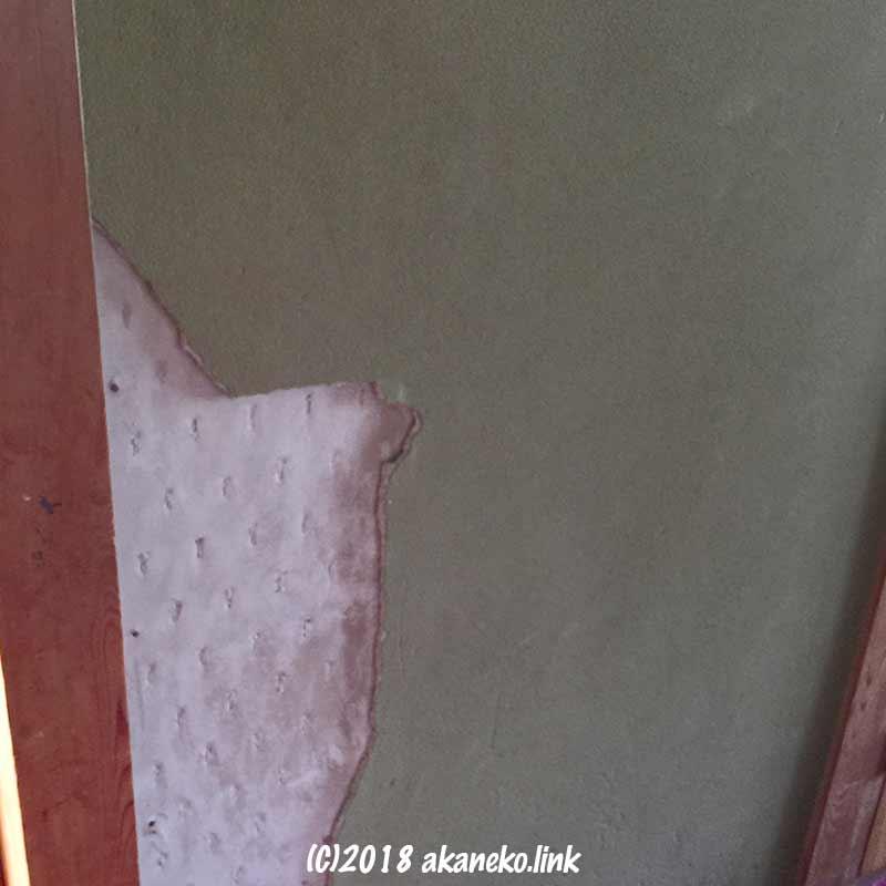一部剥がれた聚楽壁